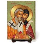 Икона Свети Свети Кирил и Методий на врачански камък
