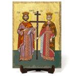 """Икона """"Свети Свети Константин и Елена"""" на Врачански Камък"""