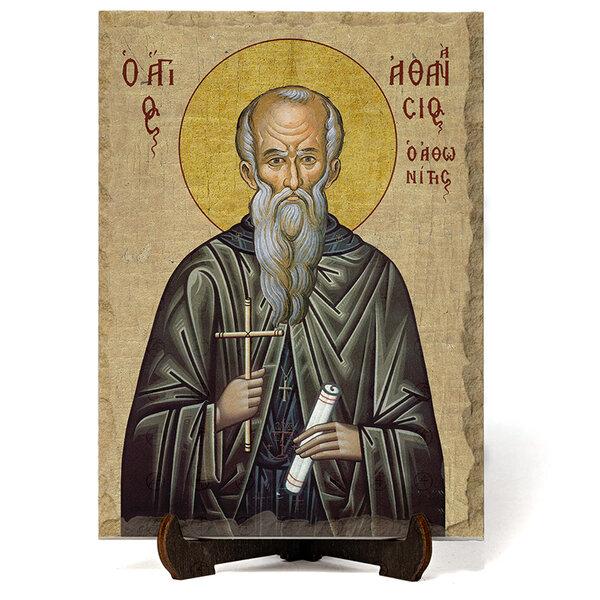"""Икона """"Свети Атанасий Велики"""" на Врачански Камък №9658"""
