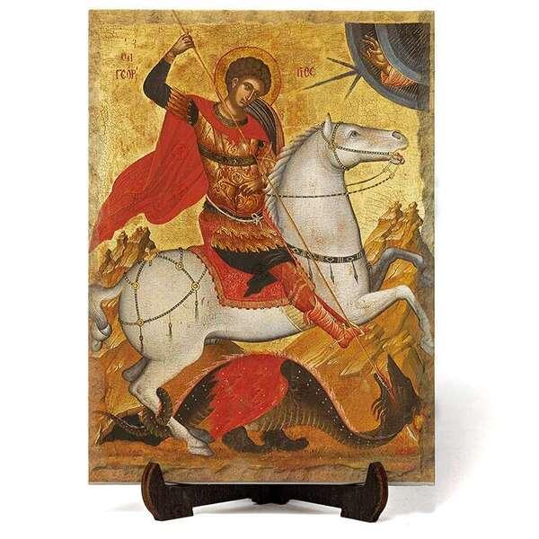 """Икона """"Свети Георги Победоносец"""" на Врачански Камък 2 №9663"""