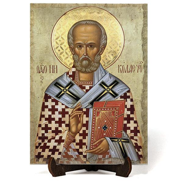 """Икона """"Свети Николай Мирликийски Чудотворец"""" на Врачански Камък 2 №9667"""