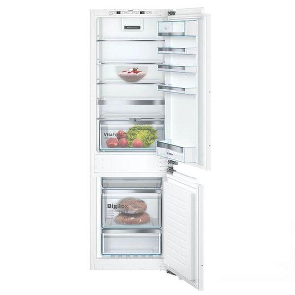 Хладилник за вграждане с долен фризер KIN86AFF0