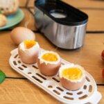 Яйцеварка FIRST AUSTRIA FA-5115-2, 210W, 3 яйца, Подгряване, Инокс