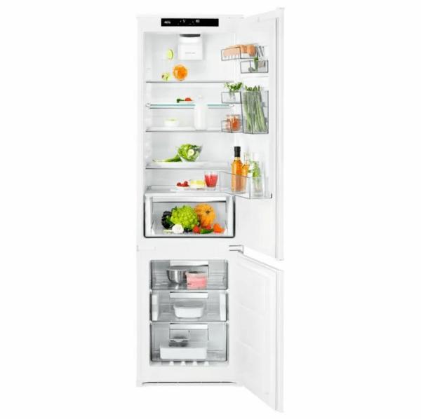 Хладилник с фризер за вграждане AEG SCE819E5TS BI