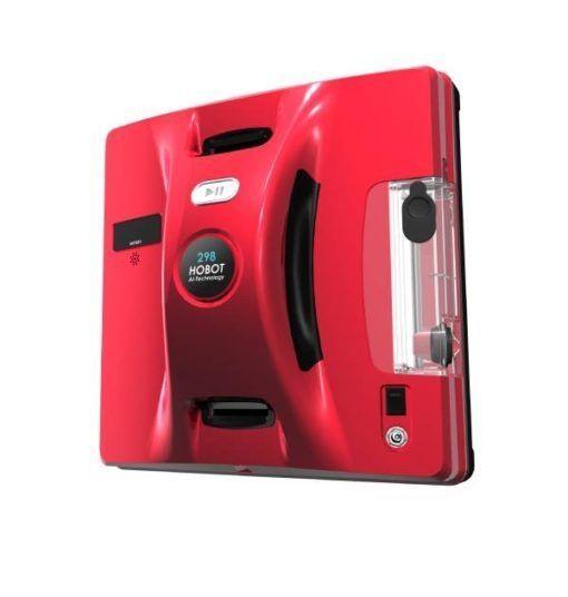 Робот за прозорци с вграден контейнер Hobot 298, червен цвят