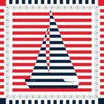 """Копринен шал """"Малката яхта"""" 70"""
