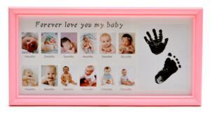Рамка за снимки на бебе, с поле за отпечатъци