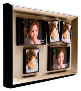 Магнитна мултирамка за снимки, 5 в 1, черна