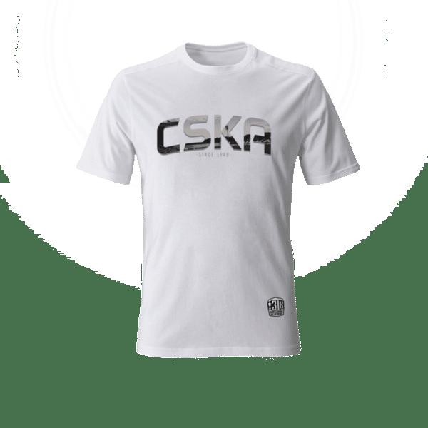 """Тениска """"CSKA since 1948"""" - бяла"""