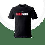 """Тениска """"CSKA Sofia FC'' - черна"""