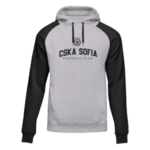 """Суитчър """"CSKA Sofia"""" - сив с черни ръкави"""