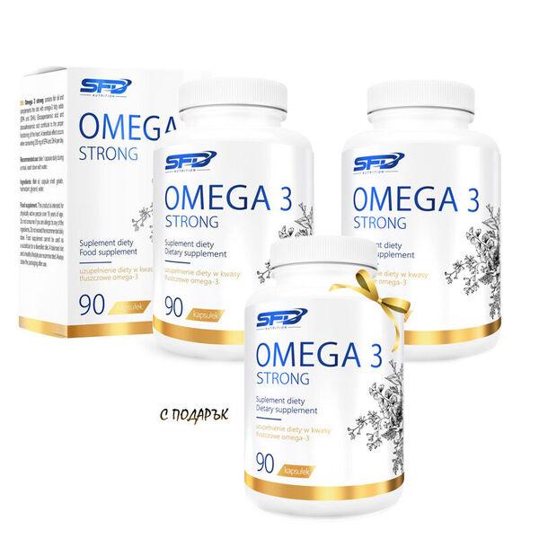 3 БРОЯ SFD NUTRITION OMEGA 3 STRONG 90 SOFTGELS