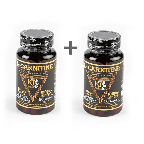 2 БРОЯ KT SportLine L-Carnitine - Л-Карнитин 60 Капсули х 500 mg.