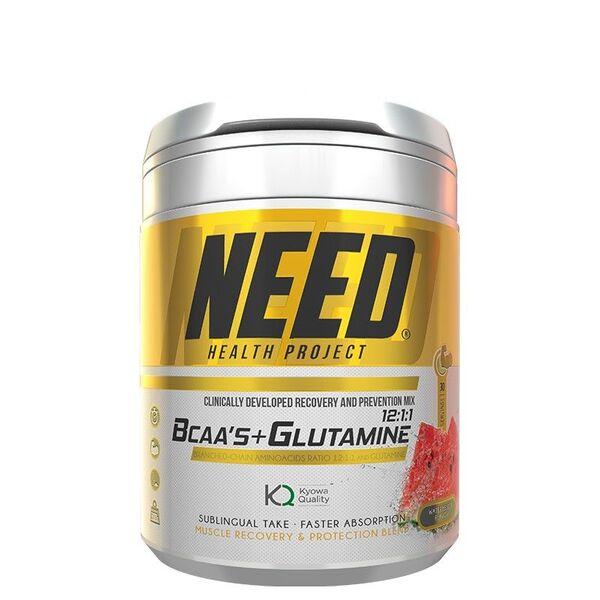 NEED BCAAS & GLUTAMINE 300G/37SERV