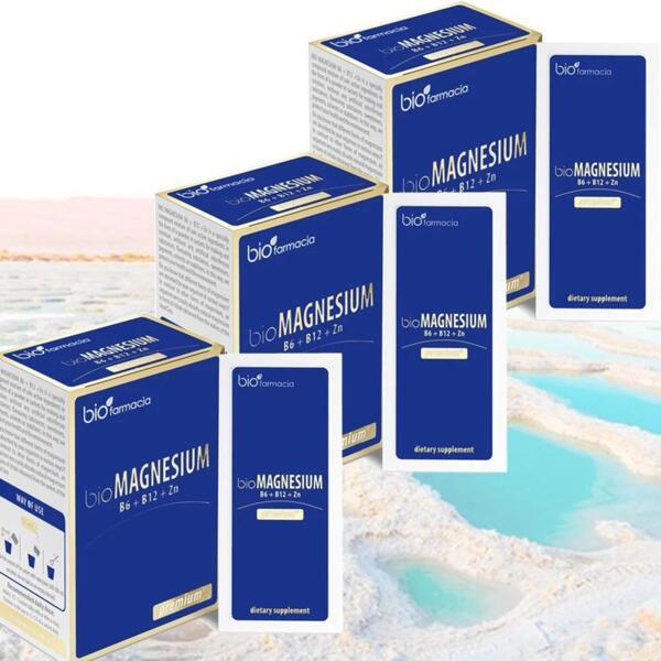Био Магнезий Премиум - B6, B12 и Цинк 3x20 сашета - за здрава имунна система