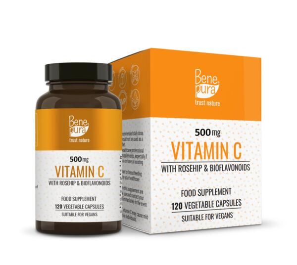 Витамин С 500 mg с Шипка и Биофлавоноиди - 120 Капсули
