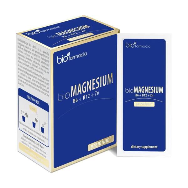 Био Магнезий Премиум - B6, B12 и Цинк 20 сашета - за здрава имунна система