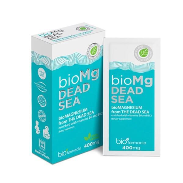 БиоМАГНЕЗИЙ и Β6, Β12 от Мъртво море - 7 сашета