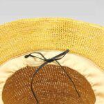 Плажна Дамска шапка с борд от Рафия, цвят Горчица