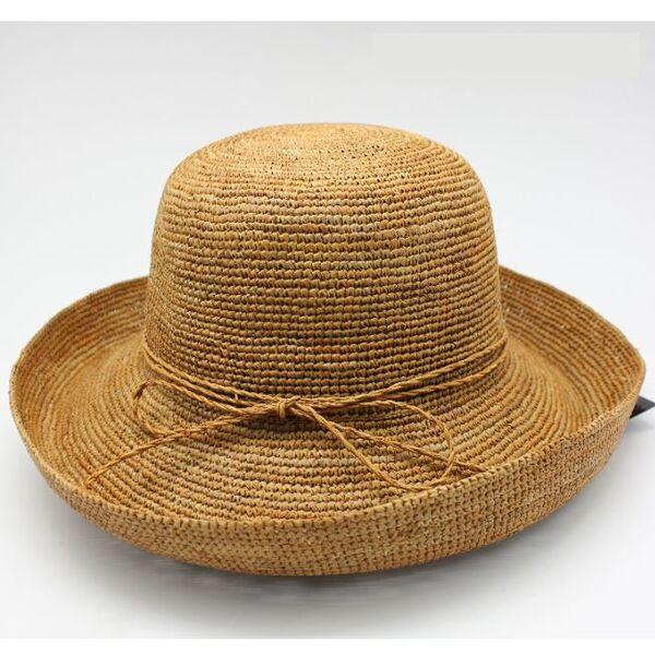 Плажна Дамска шапка с борд от Рафия