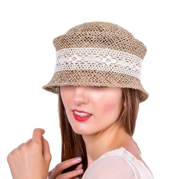 Лятна Дамска шапка от морска трева