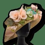 Лятна Дамска шапка от слама с богата украса