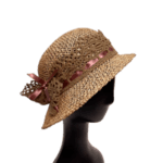 Плажна Дамска шапка с борд от Рафия-Copy
