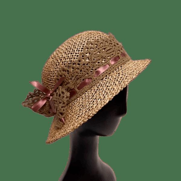 Лятна Дамска шапка клош от морска трева