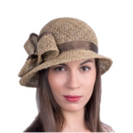 Лятна Дамска шапка клош от морска трева-Copy