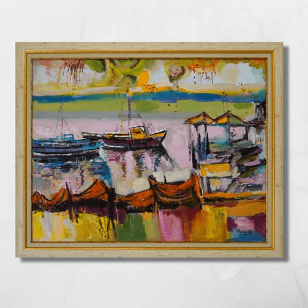 "Картина ""Лодки и мрежи"""