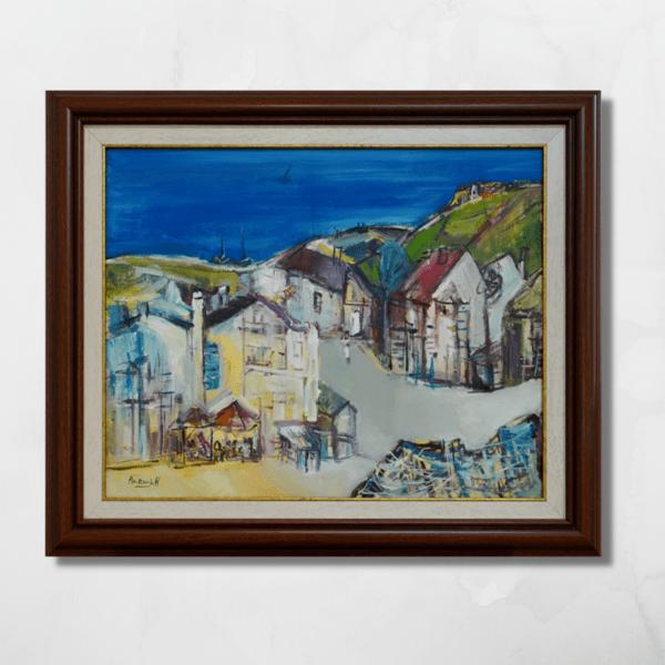 "Картина ""Градски пейзаж край морето"""