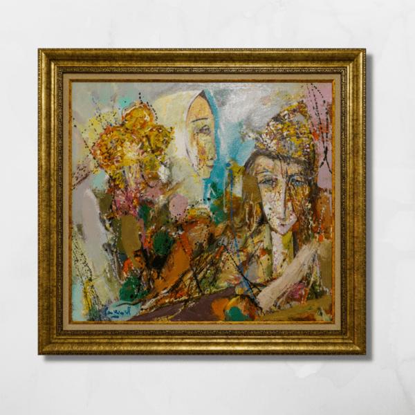 """Картина """"Нимфа с орхидеи I"""""""