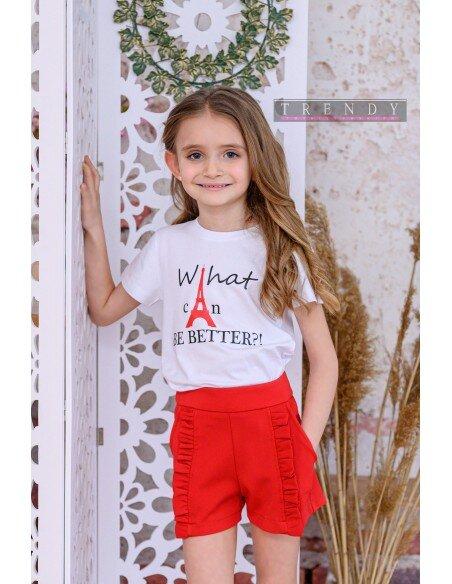 Детска блуза в бял цвят на Trendy