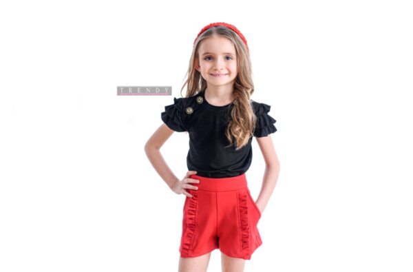 Дамска блуза в черен цвят на Trendy