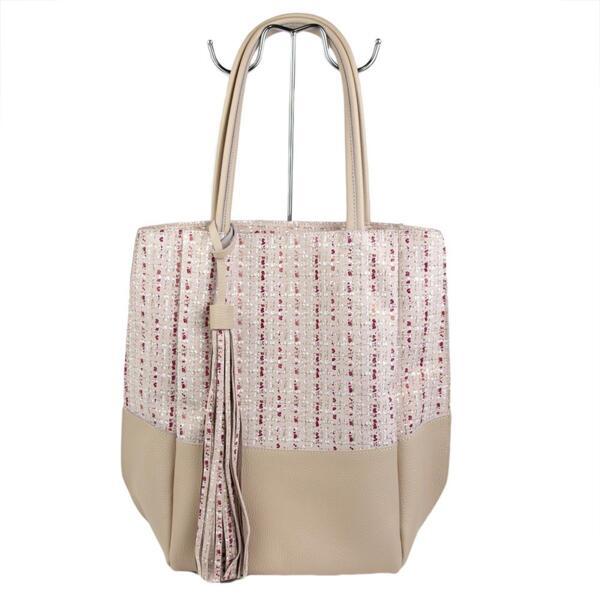 Дамска чанта в розов цвят Moda Italiana