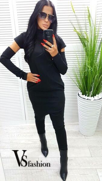 Дамски Гащеризон с прикачен ръкав от VS Fashion