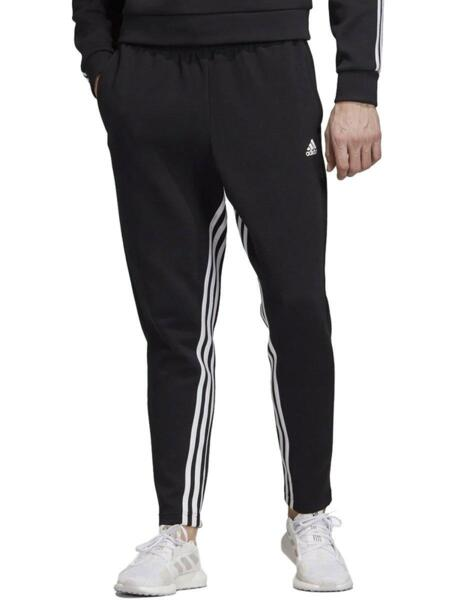 Мъжко долнище ADIDAS Must Haves 3 Stripes Tapered Pants Black