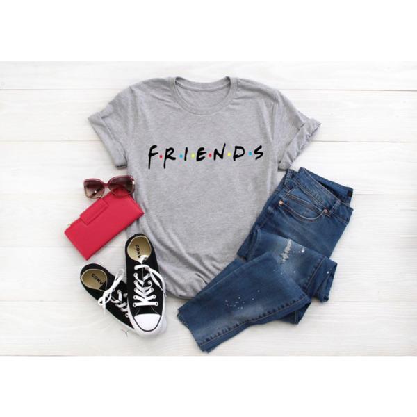 Дамска тениска с лого FRIENDS сиво