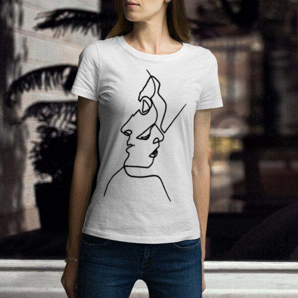 Дамска тениска с принт One Line Me and You 2