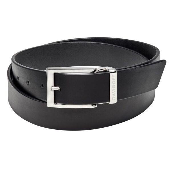 Кожен колан DAVIDOFF - Essentials, черен