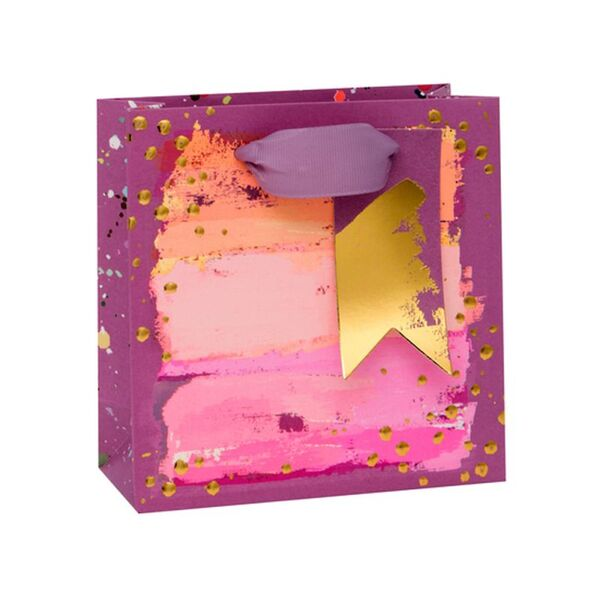 Подаръчно пликче с абстрактни мотиви 14 x 14 x 6 см