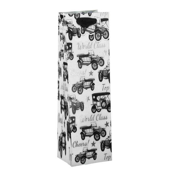 Подаръчен плик Vintage Cars (висок - подходящ за бутилка)