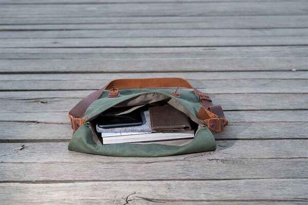 Мъжка чанта DiGeordie, зелена (Рециклирана)
