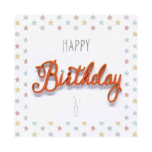 """Поздравителна картичка """"Happy Birthday Stars"""""""
