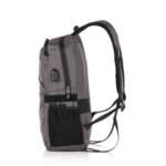 Раница Swissdigital, джоб за лаптоп, USB порт, светлосива
