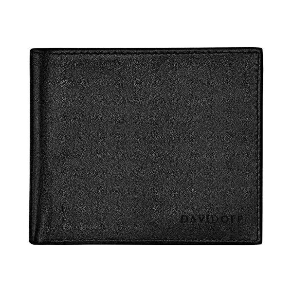 Портфейл DAVIDOFF Essentials с 8 отделения за карти, черен