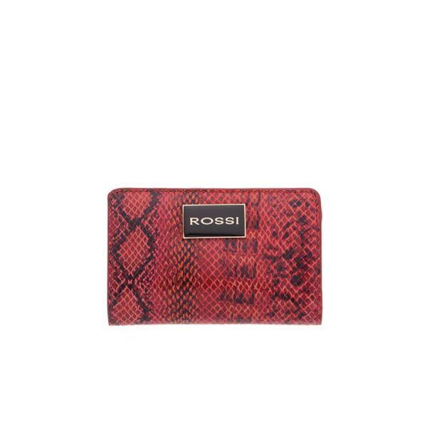 Дамско портмоне ROSSI, червено и черно