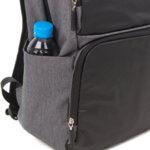 Раница Swissdigital, джоб за лаптоп, USB порт, черно и сиво