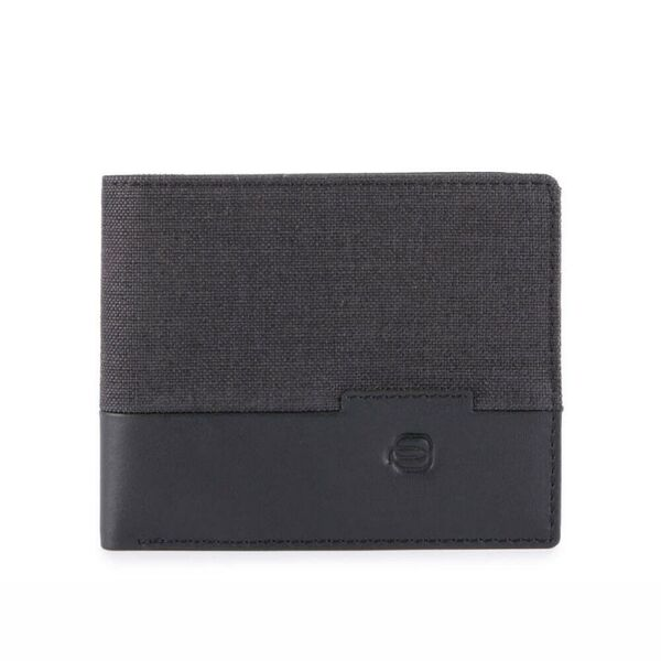 Мъжки портфейл Piquadro Tiros, черен с монетник
