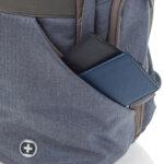Раница Swissdigital, отделение за лаптоп, USB порт, синя